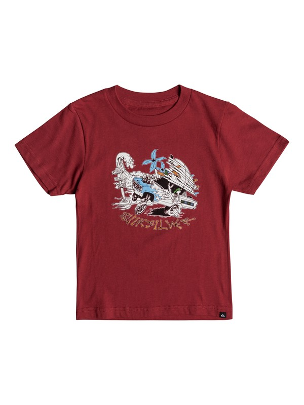 0 Boys 2 - 7 Days On Tee Red AQKZT03295 Quiksilver