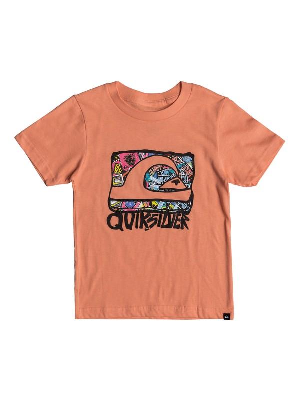 0 Boys 2 - 7 Wemi Tee Orange AQKZT03296 Quiksilver