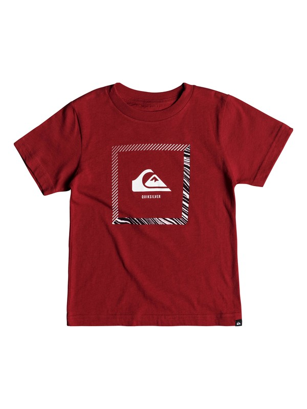 0 Boys 2-7 Beat The Heat - T-Shirt Red AQKZT03325 Quiksilver