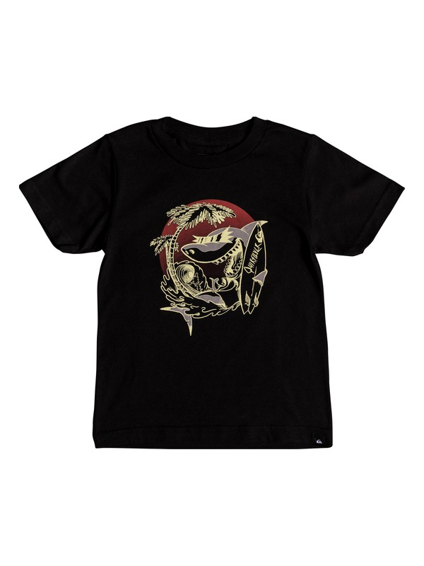 0 Boys 2-7 Skas - T-Shirt Black AQKZT03329 Quiksilver