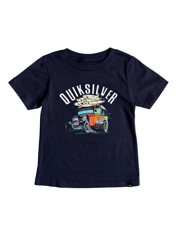 0 Boy's 2-7 Hot Rod Tee Blue AQKZT03358 Quiksilver