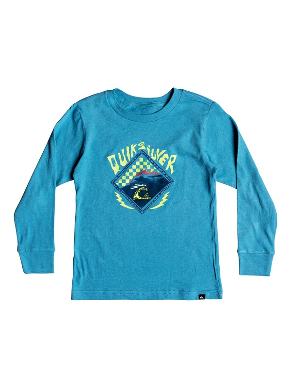 0 Boy's 2-7  Hb Check Long Sleeve Tee Blue AQKZT03369 Quiksilver