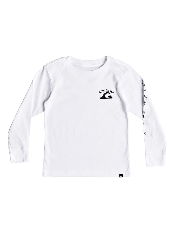 0 Boy's 2-7 Crazy Face Long Sleeve Tee White AQKZT03370 Quiksilver