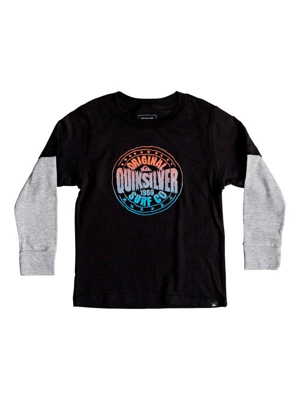 0 Niños 2-7 Camiseta Manga Larga Rocking Rails Negro AQKZT03375 Quiksilver