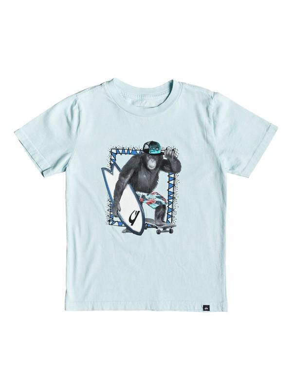 0 Boy's 2-7 Hello Monkey Tee Blue AQKZT03402 Quiksilver