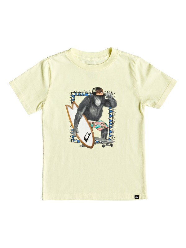0 Boy's 2-7 Hello Monkey Tee Yellow AQKZT03402 Quiksilver