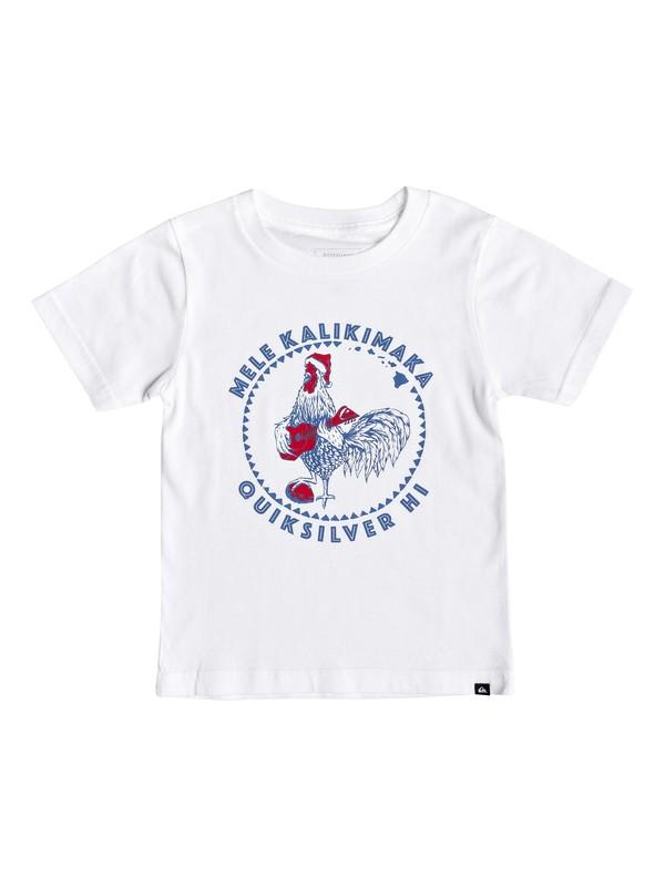 0 Boy's 2-7 Rooster Mele Kalikimaka Tee White AQKZT03408 Quiksilver