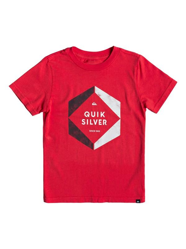0 Boy's 2-7 Hexa Logo Tee Red AQKZT03427 Quiksilver