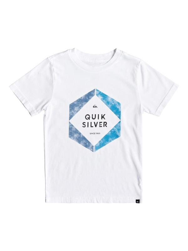0 Boy's 2-7 Hexa Logo Tee White AQKZT03427 Quiksilver