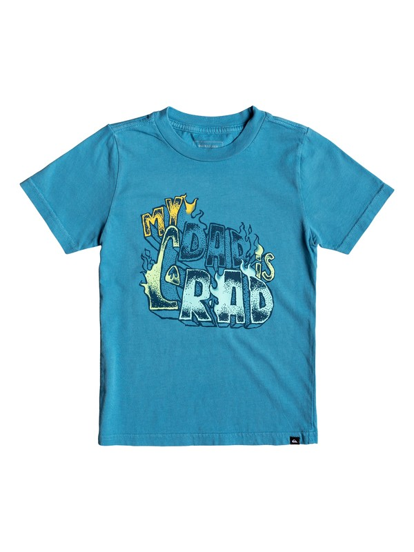 0 Boy's 2-7 Dad Rad Tee Blue AQKZT03436 Quiksilver