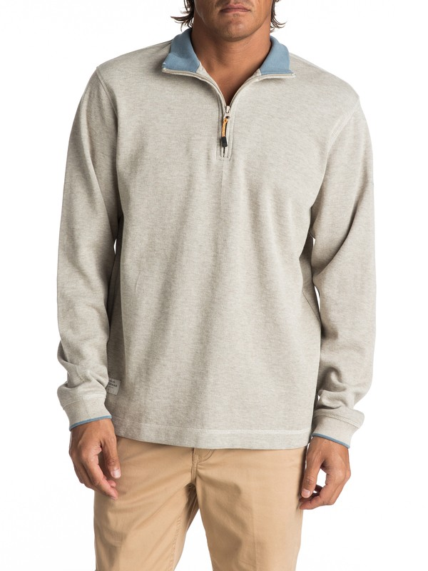 0 Waterman Point Sur Zip Sweatshirt White AQMFT03015 Quiksilver