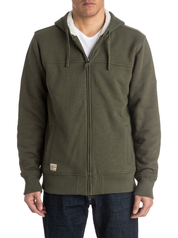 0 Waterman Hinterlands Zip - Up Sweatshirt  AQMFT03017 Quiksilver