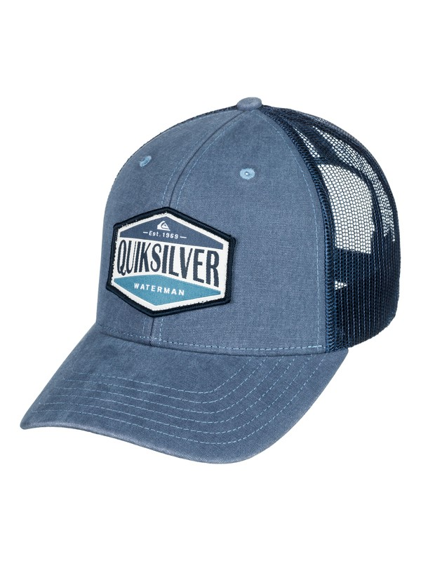 0 Waterman Wake Baker - Trucker Hat Blue AQMHA03075 Quiksilver