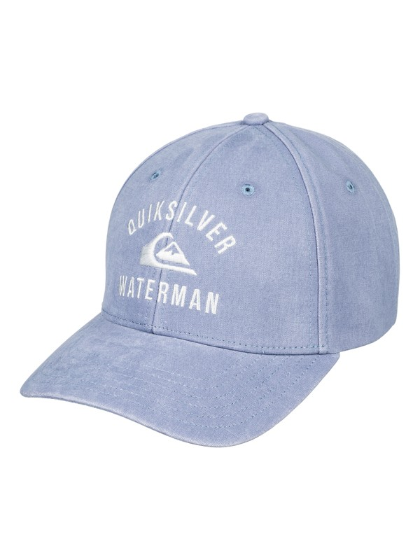 0 Waterman Crescent Bay Snapback Hat Blue AQMHA03079 Quiksilver