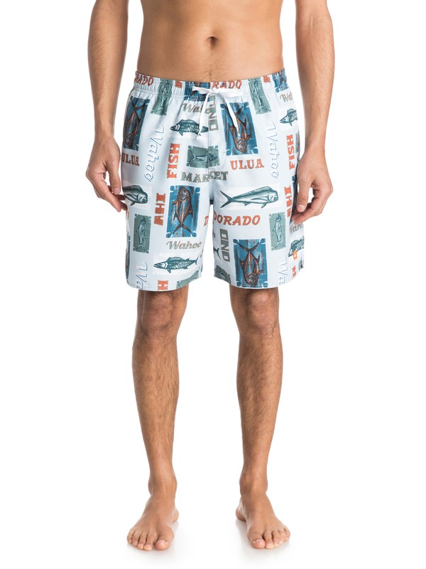 0 Men's Seven Seas Volley Boardshorts  AQMJV03033 Quiksilver