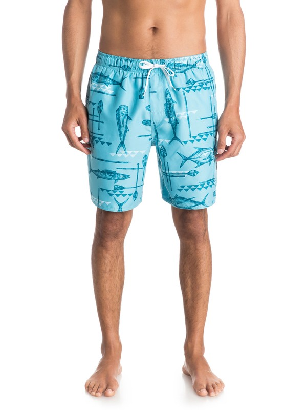 "0 Mens West Palm 18"" Volley Boardshorts  AQMJV03039 Quiksilver"