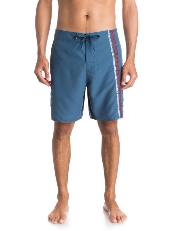 "0 Waterman Bongo 19"" Boardshorts Blue AQMJV03041 Quiksilver"