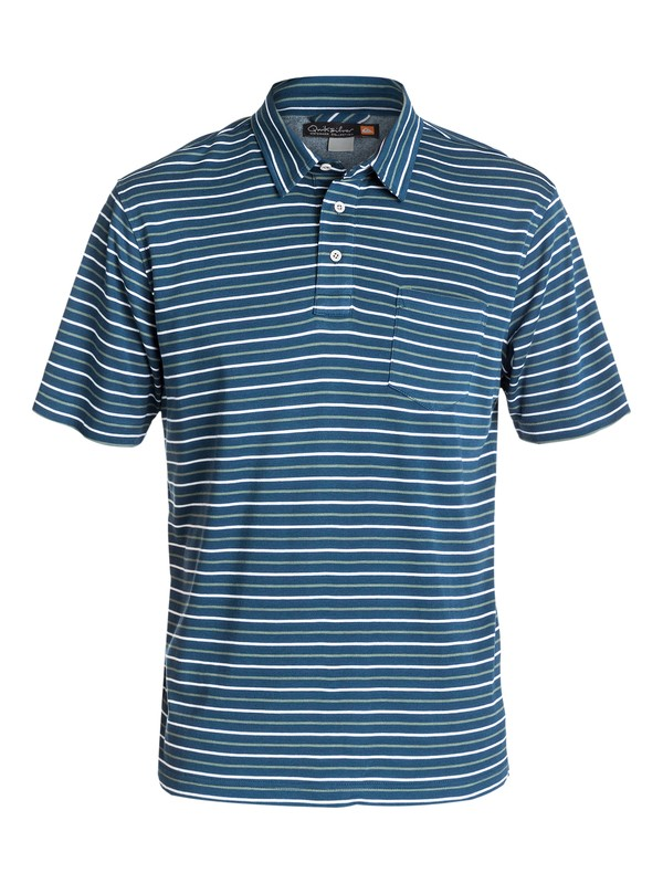 0 Men's Harborside Stripe  Polo Shirt  AQMKT03024 Quiksilver