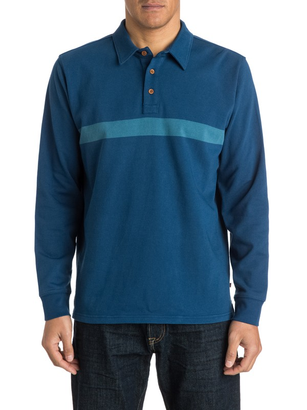 0 Men's Splice Long Sleeve Polo Shirt  AQMKT03030 Quiksilver