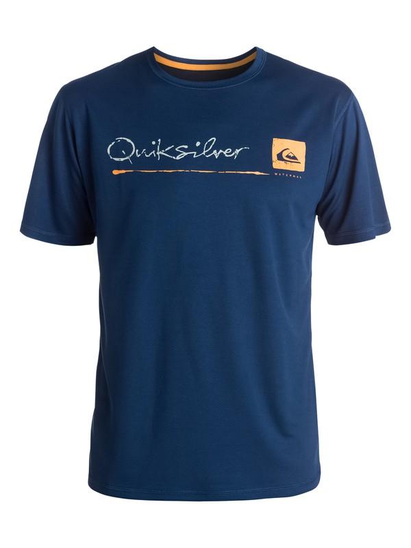 0 La Costa Short Sleeve Rashguard  AQMWR03006 Quiksilver