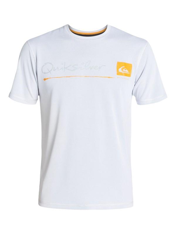 0 La Costa Short Sleeve Rashguard White AQMWR03006 Quiksilver
