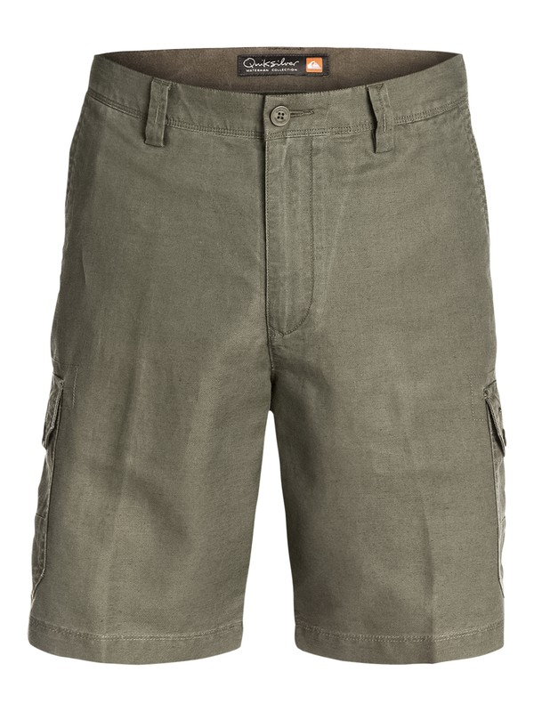 0 Men's Cape Cod Linen Cotton Cargo Shorts  AQMWS03045 Quiksilver