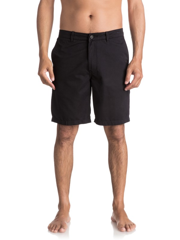 "0 Waterman Maldive 20"" Chino Shorts Black AQMWS03058 Quiksilver"