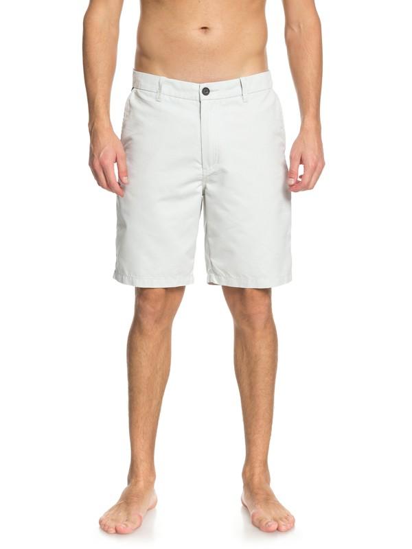"0 Waterman Maldive 20"" Chino Shorts Grey AQMWS03058 Quiksilver"