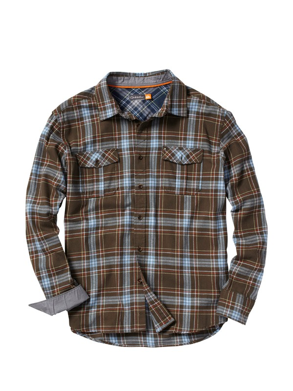 0 Men's Wamberal Long Sleeve Flannel Shirt  AQMWT00021 Quiksilver