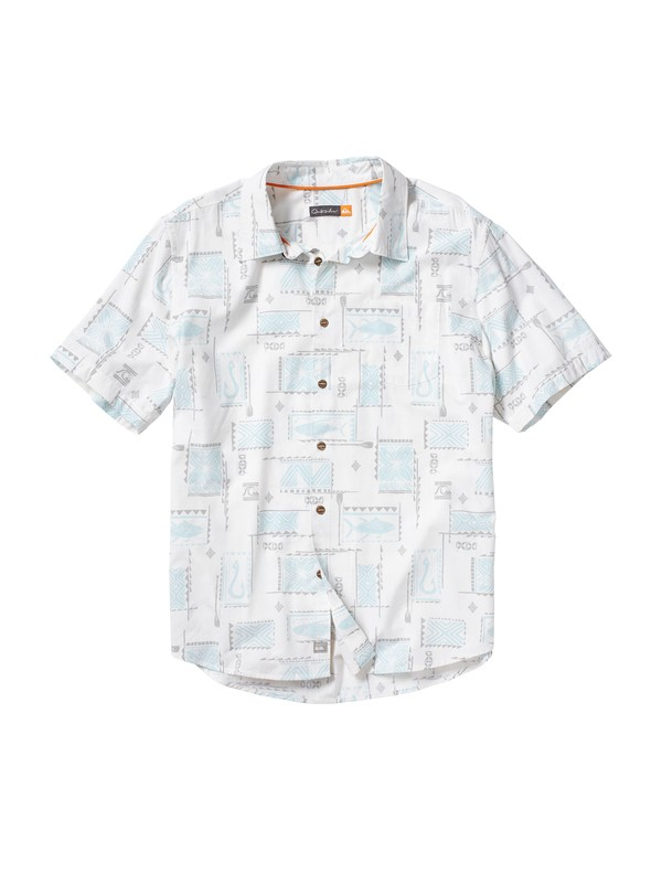 0 Men's Lawai Bay Short Sleeve Shirt  AQMWT00025 Quiksilver