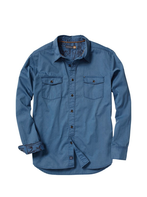 0 Men's Crosswaves Long Sleeve Shirt  AQMWT00030 Quiksilver