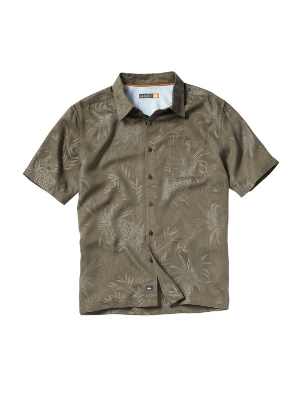 0 Men's Panui Cove Short Sleeve Shirt  AQMWT00032 Quiksilver