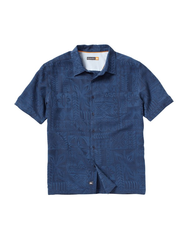 0 Men's Aganoa Bay Short Sleeve Shirt  AQMWT00047 Quiksilver