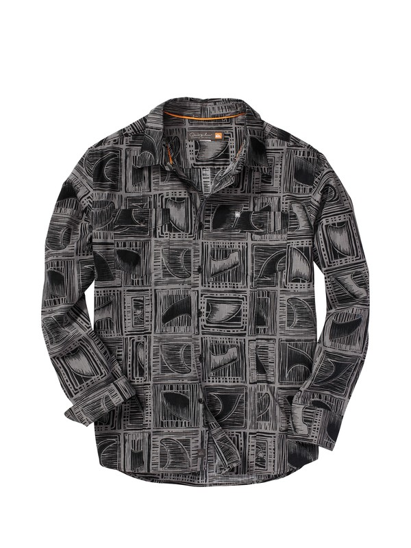 0 Men's Banyans Long Sleeve Shirt  AQMWT00049 Quiksilver