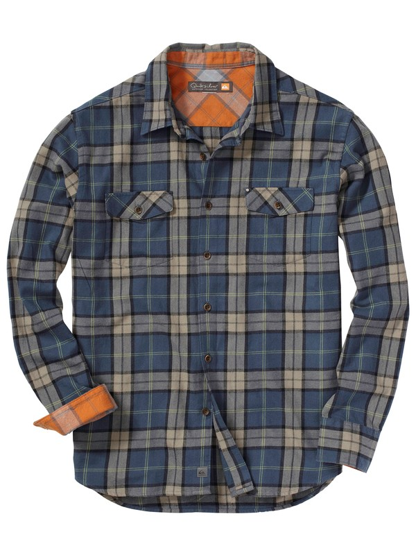 0 Men's Cannons Beach Long Sleeve Flannel Shirt  AQMWT00051 Quiksilver