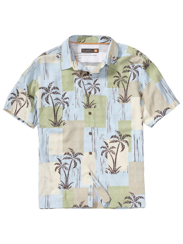 0 Men's Playa Sandrino Short Sleeve Shirt  AQMWT00069 Quiksilver