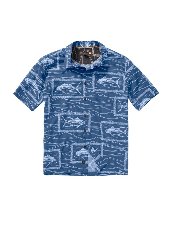 0 Men's Paliea Point Short Sleeve Shirt  AQMWT00086 Quiksilver