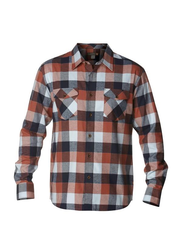 0 Men's Aikens Lake Long Sleeve Flannel Shirt  AQMWT00143 Quiksilver