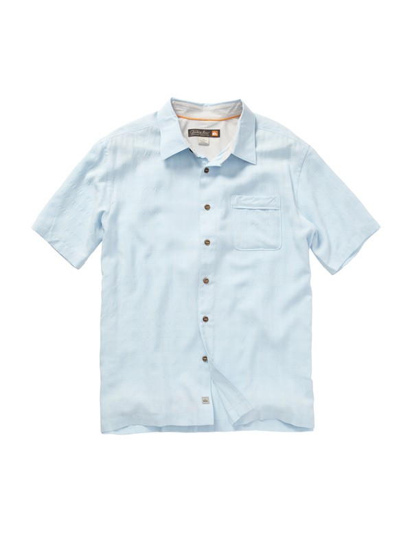 0 Men's White Cliff Short Sleeve Shirt  AQMWT00145 Quiksilver