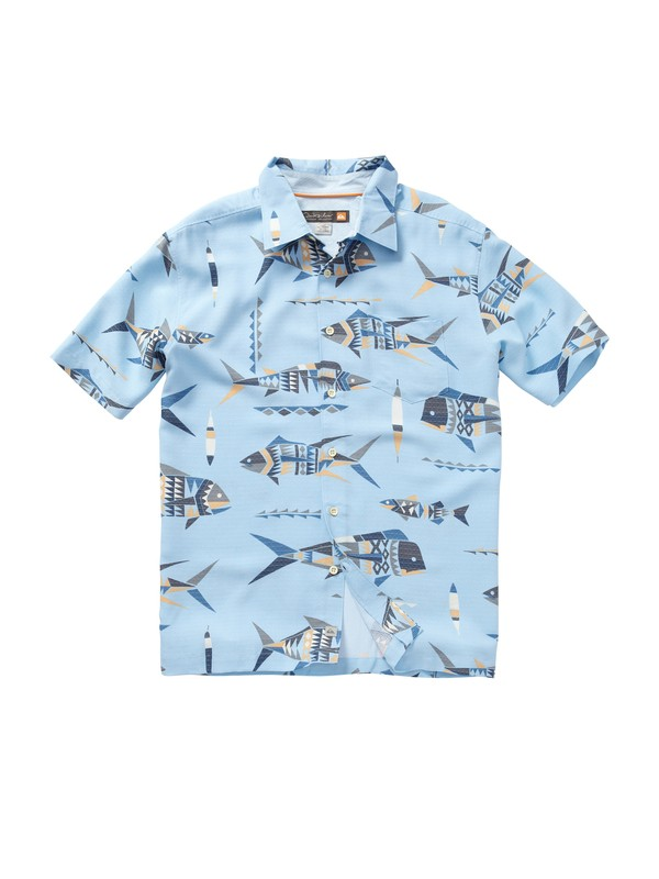 0 Men's Descanso Beach Short Sleeve Shirt  AQMWT00161 Quiksilver