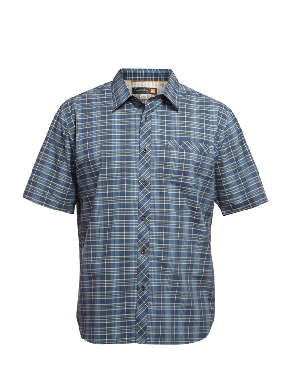0 Men's Bancoora Beach Short Sleeve Shirt  AQMWT03010 Quiksilver