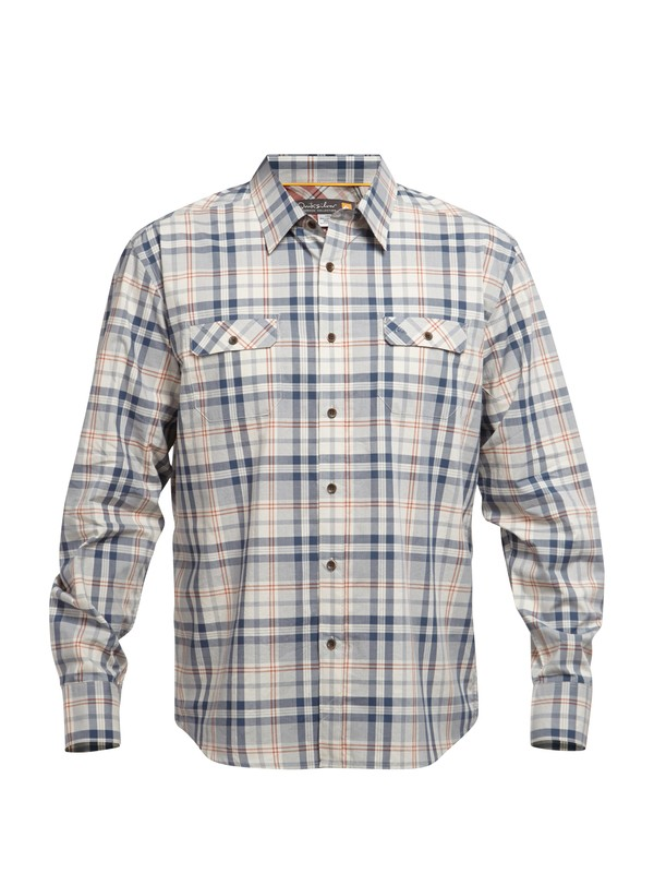 0 Men's Kennet Bay Long Sleeve Shirt  AQMWT03012 Quiksilver