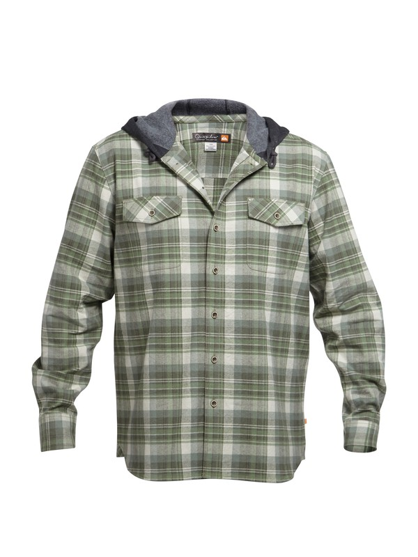 0 Waterman Multnomah Falls Flannel Long Sleeve Shirt  AQMWT03017 Quiksilver