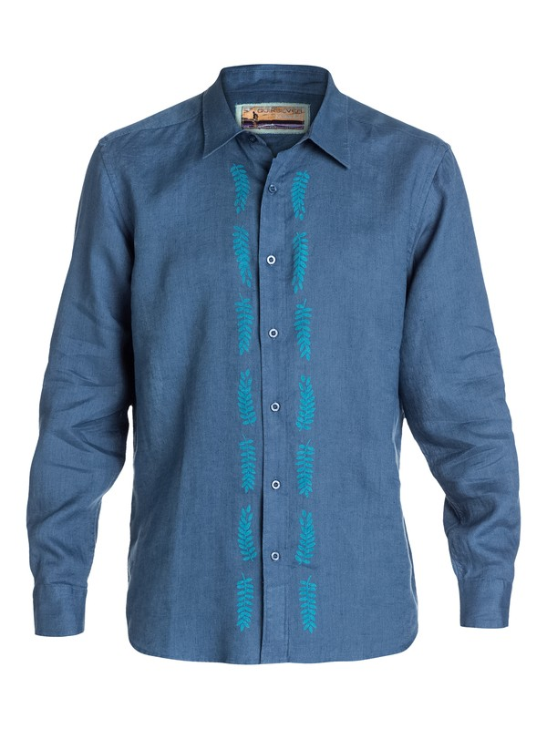 0 Men's Kaiwe Long Sleeve Shirt  AQMWT03023 Quiksilver