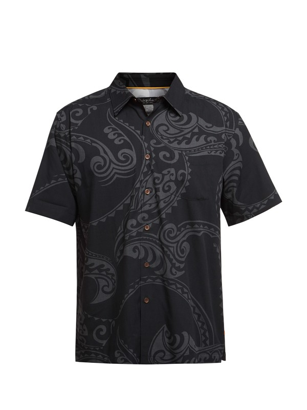 0 Men's Pali Bay Short Sleeve Shirt  AQMWT03029 Quiksilver
