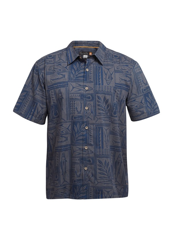 0 Men's Apollo Bay Short Sleeve Shirt  AQMWT03032 Quiksilver