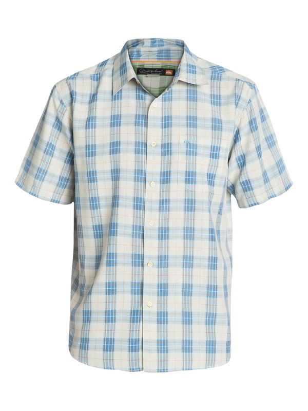 0 Men's North Avalon Short Sleeve Shirt  AQMWT03036 Quiksilver