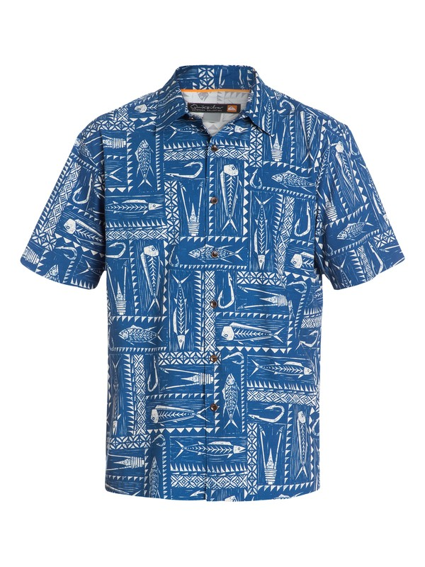 0 Men's Clifton Beach Short Sleeve Shirt  AQMWT03050 Quiksilver