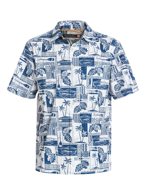 0 Men's Pacific Palms Short Sleeve Shirt  AQMWT03054 Quiksilver