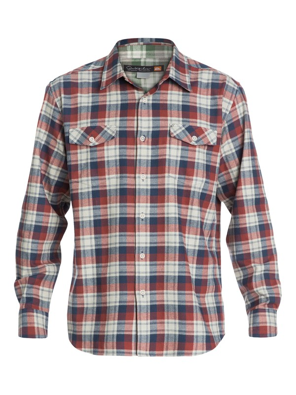 0 Mens Pescadero Long Sleeve Flannel Shirt  AQMWT03066 Quiksilver
